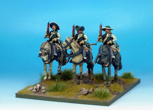 WLOA39a Cuirassiers in Hats on Standing Horses - Warfare Miniatures USA