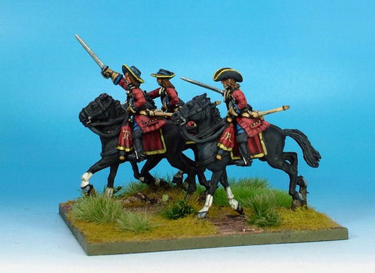 WLOA39b Cuirassiers in Hats on Galloping Horses - Warfare Miniatures USA