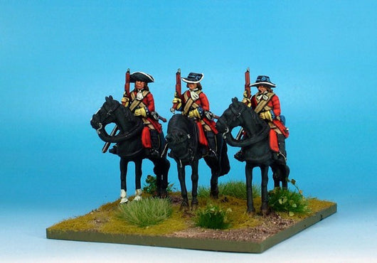 WLOA41a Cuirassiers in Hats, Cuirass Under Coats on Standing Horses - Warfare Miniatures USA