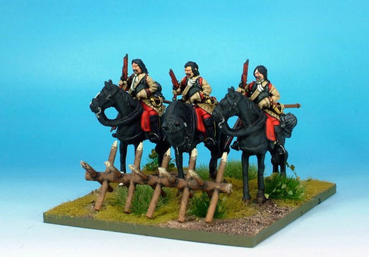 WLOA45a Cuirassiers, Bareheaded on Standing Horses - Warfare Miniatures USA