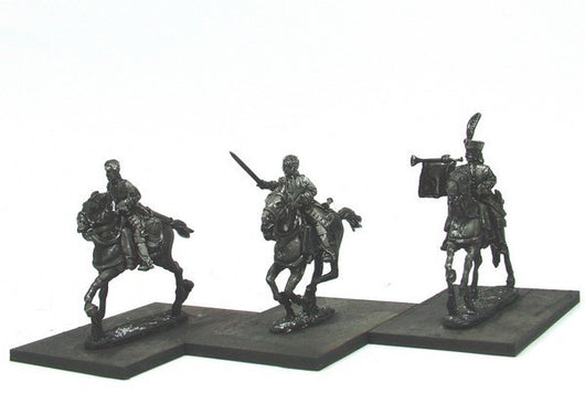WLOA46b Cuirassiers Command, Bareheaded on Galloping Horses - Warfare Miniatures USA