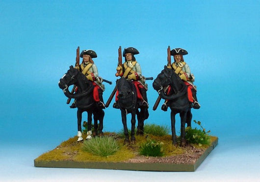 WLOA53a Cuirassiers in Tricorns, Cuirass Under Coat on Standing Horses - Warfare Miniatures USA