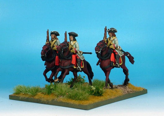 WLOA53b Cuirassiers in Tricorns, Cuirass Under Coat on Galloping Horses - Warfare Miniatures USA