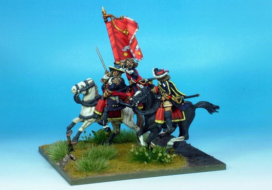 WLOA57 Enthusiastic Cavalry Command - Warfare Miniatures USA