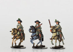WLOA58 Mounted Dragoons in Hats - Warfare Miniatures USA
