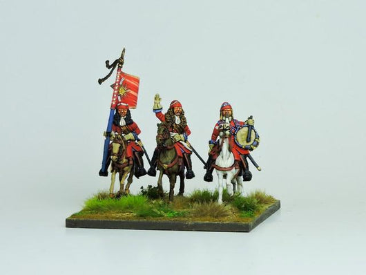 WLOA63 Mounted French Dragoons Command - Warfare Miniatures USA