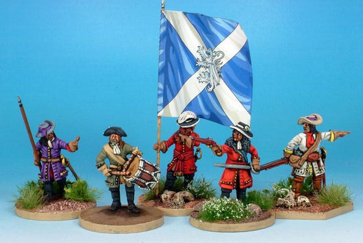 WLOA88 Dismounted Dragoons Command in Hat - Warfare Miniatures USA