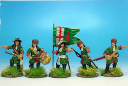 WLOA89 Dismounted Dragoons Command in Mixed Hats - Warfare Miniatures USA