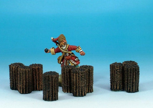 WLOA928 Siege Equipment - Medium Gabions - Warfare Miniatures USA