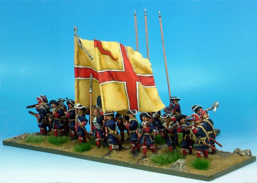 B011 Advancing with Pikes and Grenadiers in Low Mitre - Warfare Miniatures USA
