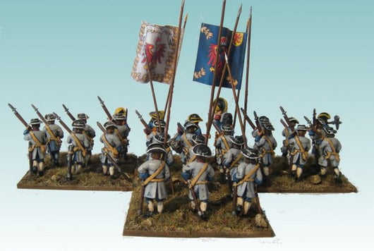 B015 Advancing with Pikes (no grenadiers) - Warfare Miniatures USA