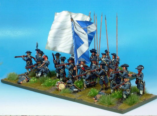 B023 Infantry with Apostles UNDER PRESSURE with pikes - Warfare Miniatures USA