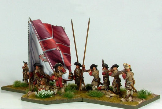 B003 Firing Line with Pikes and Grenadiers in Fur Caps - Warfare Miniatures USA