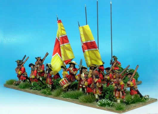 B009 Marching with Pikes - Warfare Miniatures USA