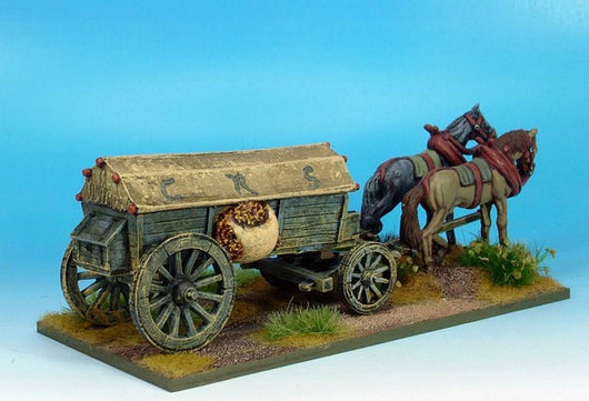 WLOA947 Covered Wagon, Reinforced, Variant #2 - Warfare Miniatures USA