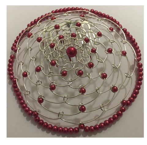 Elegant Dressy Beaded Wire Kippah for Women