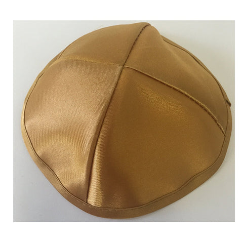 Alef Judaica Satin Kippah with Matching Border and No Design - 6 Kippot Per Order