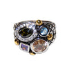 Bohemian Inspired Bauble Band in Black Rhodium With Multicolored CZ Stones