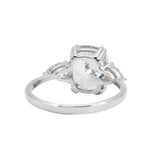 4 CT Cushion Cut CZ Ring in Sterling Silver