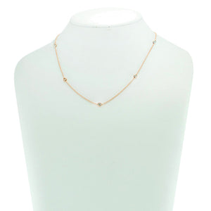 "By The Yard 16"" Necklace in Rose Gold with Clear Stones"