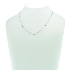 "By The Yard 16"" Necklace in Rhodium with Clear Stones"