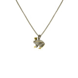 Frog Prince Two Tone Pendant Necklace With Adjustable Chain