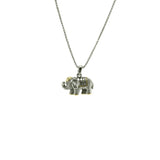 Elephant Two Tone Pendant Necklace With Adjustable Chain