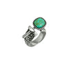 Designer Inspired Open Turquoise Adjustable Ring