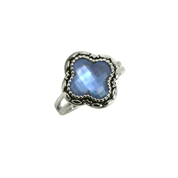 Designer Inspired Blue Shell Ring
