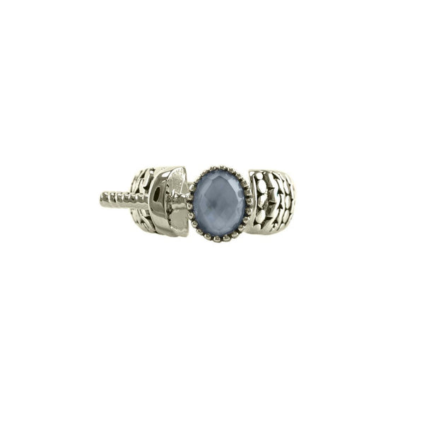 Designer Inspired Open Blue Shell Ring