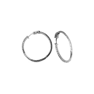 Traditional 40mm Pave Hoop Earrings