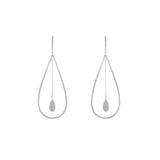 Pave Tear Drop /Bell Earrings