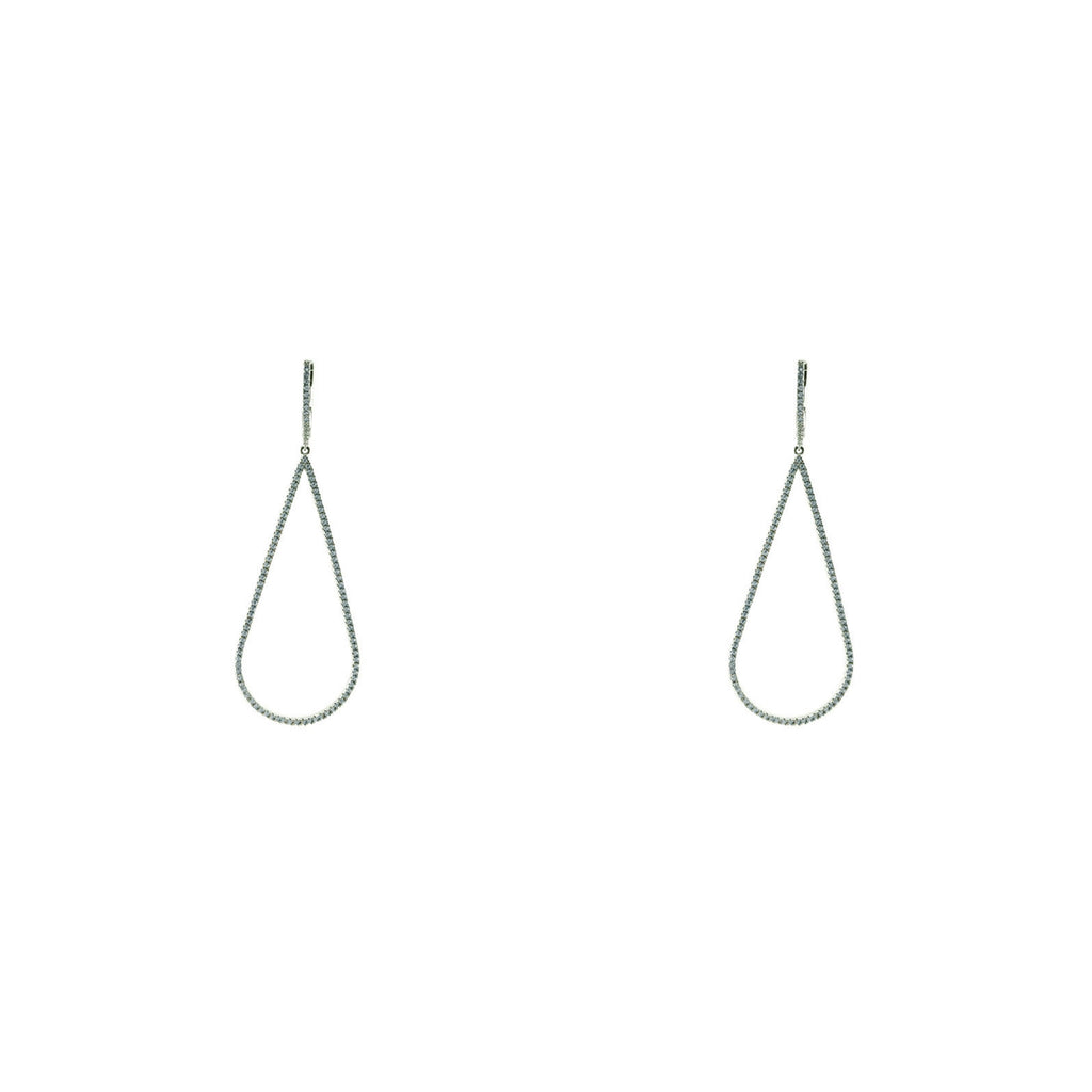Pave Bell Drop Earrings