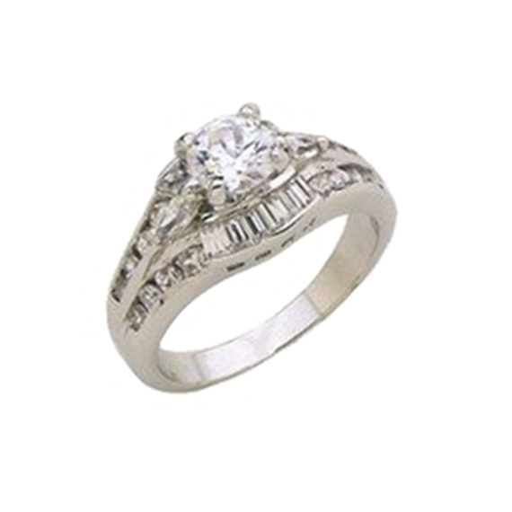 Rhodium White Gold Marquis Classic Ring