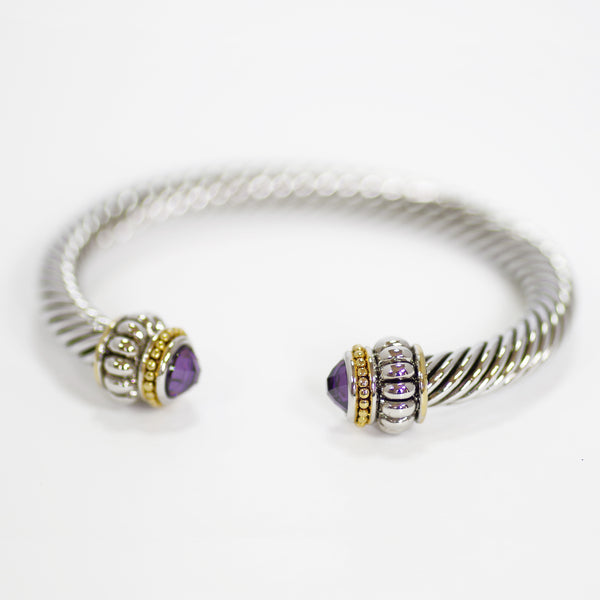 Amethyst Designer Inspired Bangle