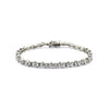 Rhodium Plated Clear Round Cut CZ Tennis Bracelet