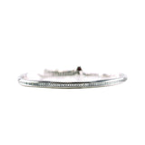 Surgical Steel Single Row Clear Round Cut CZ Channel Bracelet with Adjustable Pull