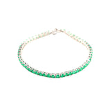 Tennis Bracelet with Emerald Green Gem Stones