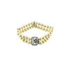 Pave Pearl Bracelet with CZ Accents