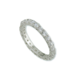 Traditional Rhodium White Gold Classic Eternity Band