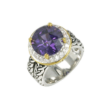 Designer inspired amethyst ring