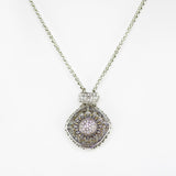 Designer Inspired Locket Necklace with CZ Diamonds