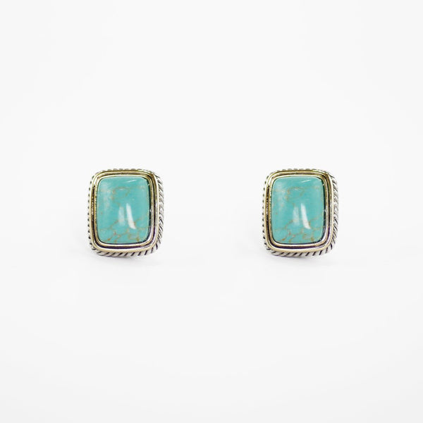 Designer Inspired Natural Turquoise Stone Earrings