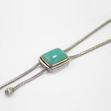 Designer Inspired Lariat with Natural Turquoise Stone
