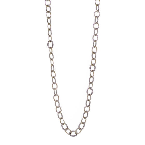 "Designer Inspired Two-Tone Gold Chain in 20"" and 36"""