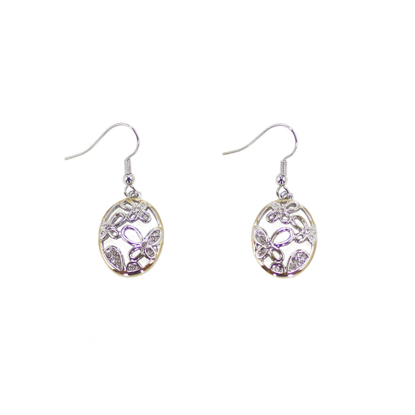 Designer Inspired Butterfly Flowers Earrings