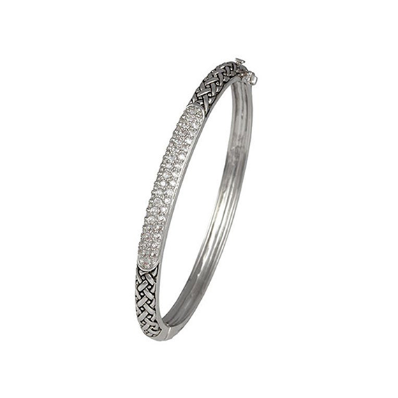 Designer pave bangle