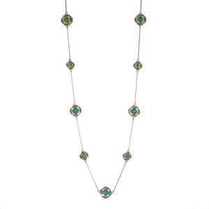 "Love Knot 36"" Station Necklace in Turquoise"