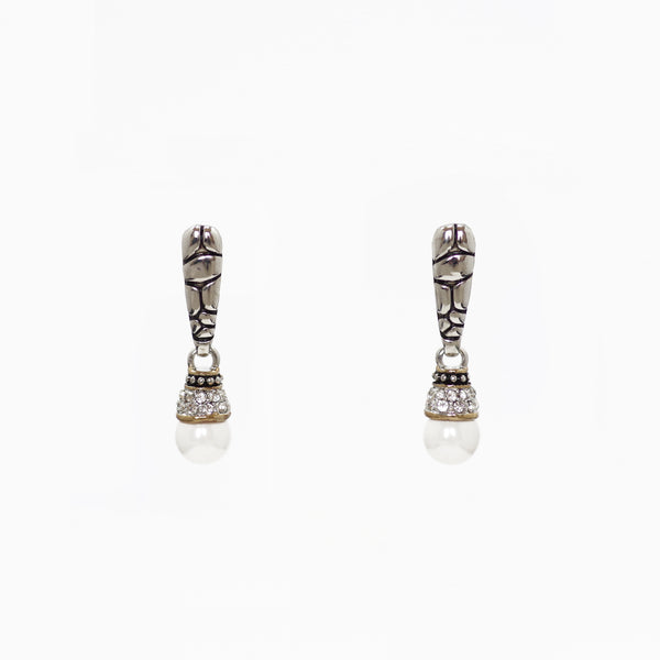 Designer Inspired Drop Earrings in Pearl
