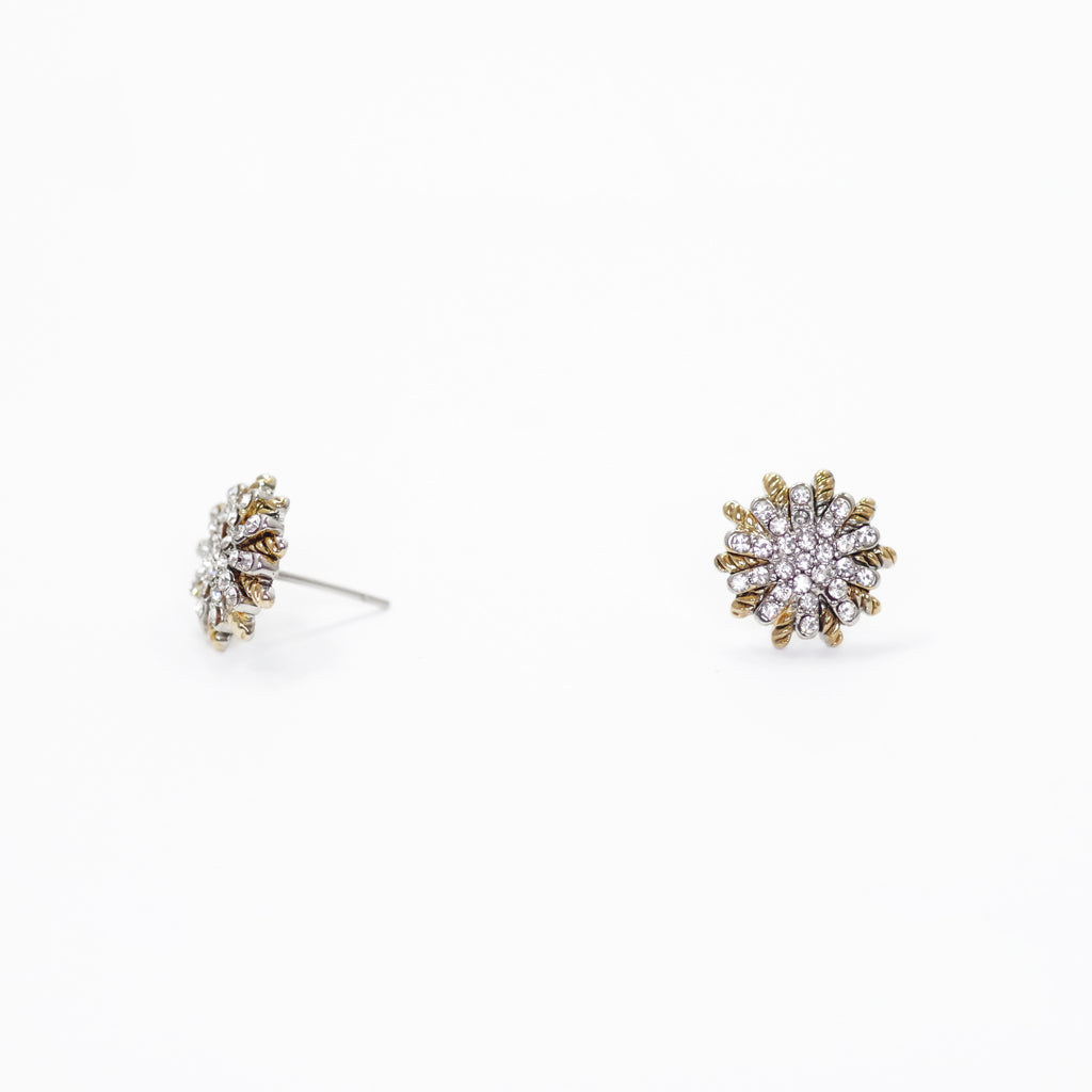 Pave Starburst Designer Inspired Earrings